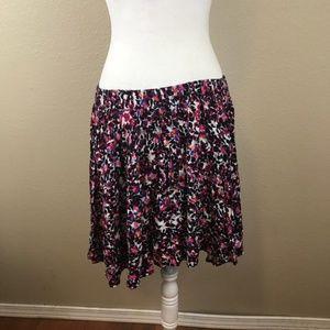 Torrid Spring Floral Circle Skirt Size 1